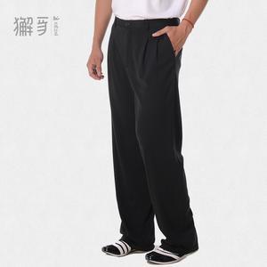 獬豸服饰 冬季厚款运动西裤 男士商务休闲西裤高弹性运动西裤