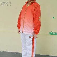 獬豸服饰 儿童插肩渐变【上衣】 武术团队表演服男女休闲运动服