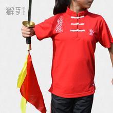 獬豸服饰 中国扣儿童中式立领T恤 童装短袖T恤 运动T恤 儿童团队运动服