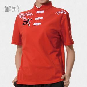 獬豸服饰 中国扣云武中式T恤 透气吸汗中国风武术运动短袖T恤