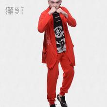 獬豸服饰针织功夫裤韩版休闲运动服潮流武术哈伦裤武字运动裤